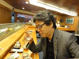 寿司屋にて・・・