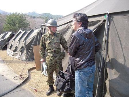 女川町善通寺 第14旅団 野営キャンプ